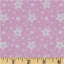 Little Nursery Flannel Stars Pink