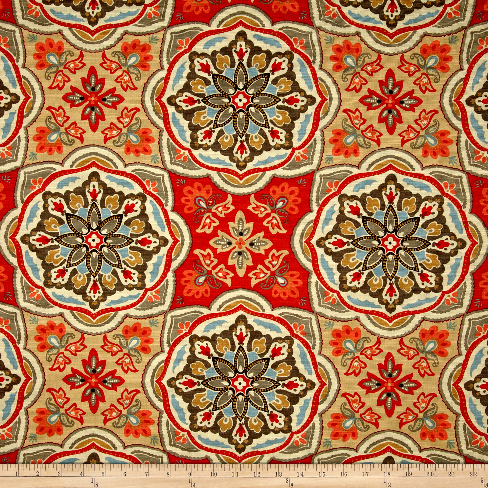 Waverly Tapestry Tile Clay Fabric