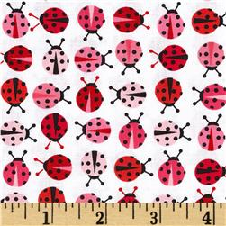 Robert Kaufman Urban Zoology Mini Ladybugs Pink