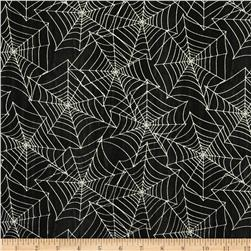 Every Witch Way Spiderwebs Black