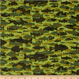 Timber Lodge Flannel Camo Fish Moss Green
