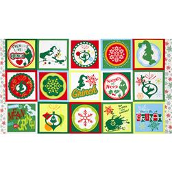 How The Grinch Stole Christmas 3 Block Panel Green