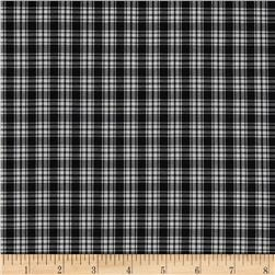 Pima Tartan Plaid Shirting Black/White