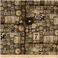 Tim Holtz Eclectic Elements Game Pieces Taupe