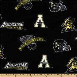 Collegiate Fleece Appalachian State University Tossed Black/Yellow