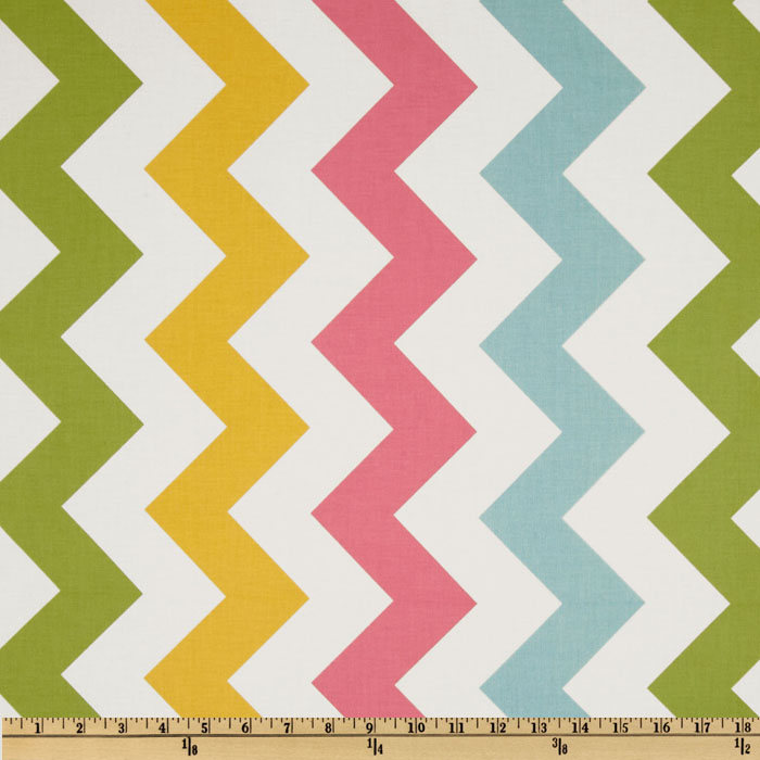 Riley Blake Chevron Large Pink/Girl Fabric