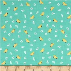 Penny Rose Shabby Strawberry Birds Teal
