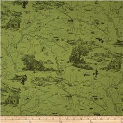 Little Rivers Tonal Toile Green