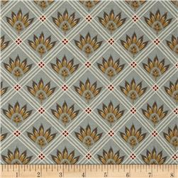 Riley Blake A French Courtyard French Check Grey