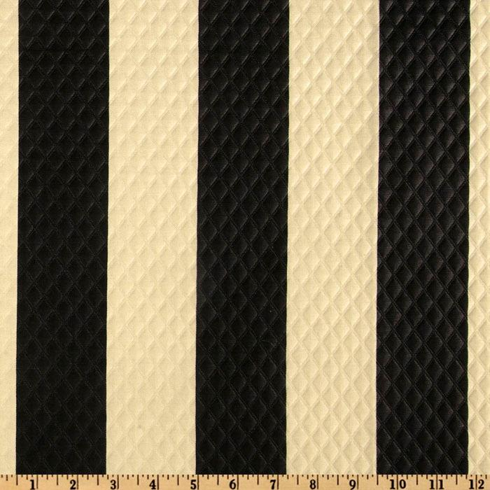 Waverly Sun N Shade Quilted Solstice Stripe Onyx