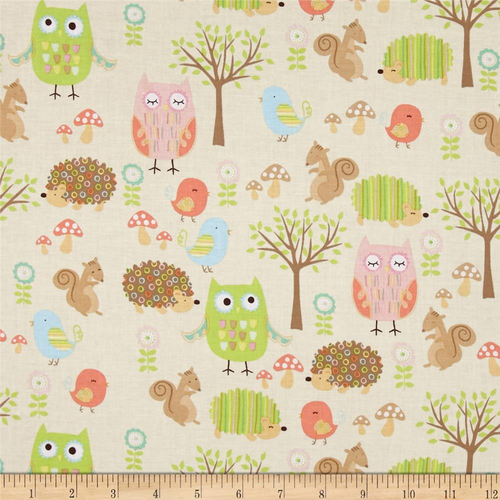 Riley Blake Owl & Co. Owl Friend Cream