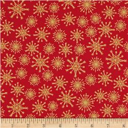 Christmas Metallic Starburst Red