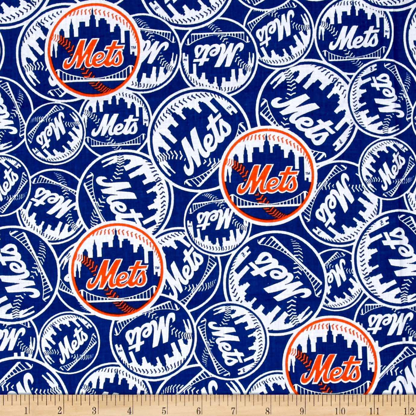 MLB New York Mets Cotton Broadcloth Fabric by Fabric Traditions in USA