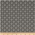 Moda Sugar Pie Cross My Heart Charcoal