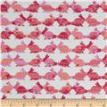 Michael Miller Cynthia Rowley Oh Baby Flannel Rabbit Repeat Coral
