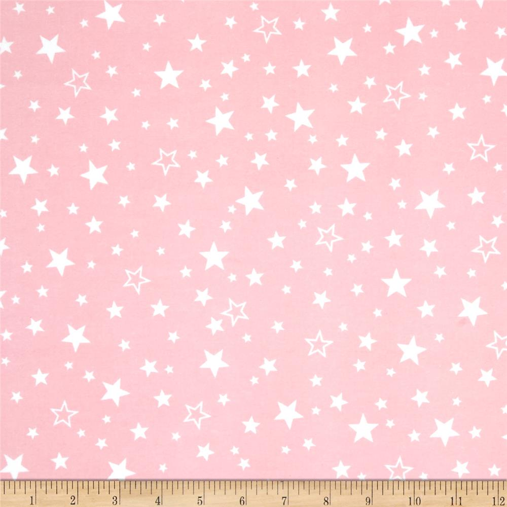 Robert Kaufman Cozy Cotton Flannel Stars Pink