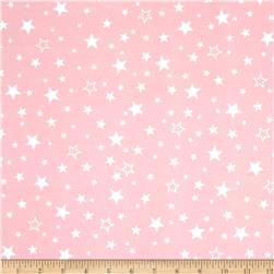 Kaufman Cozy Cotton Flannel Stars Pink