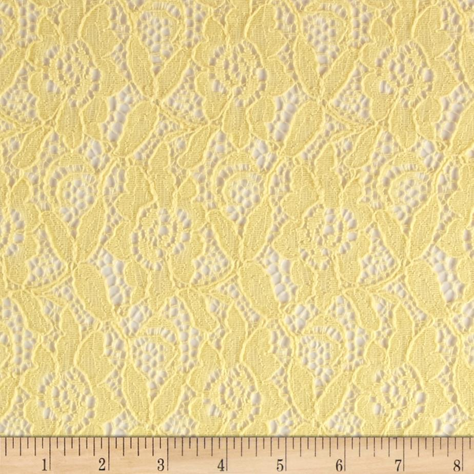 Lace Non-Stretch Daffodil Lemon Drop