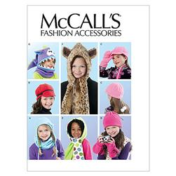 McCall's Children's/Girls' Hats, Cowl and Mittens Pattern M6448 Size OSZ