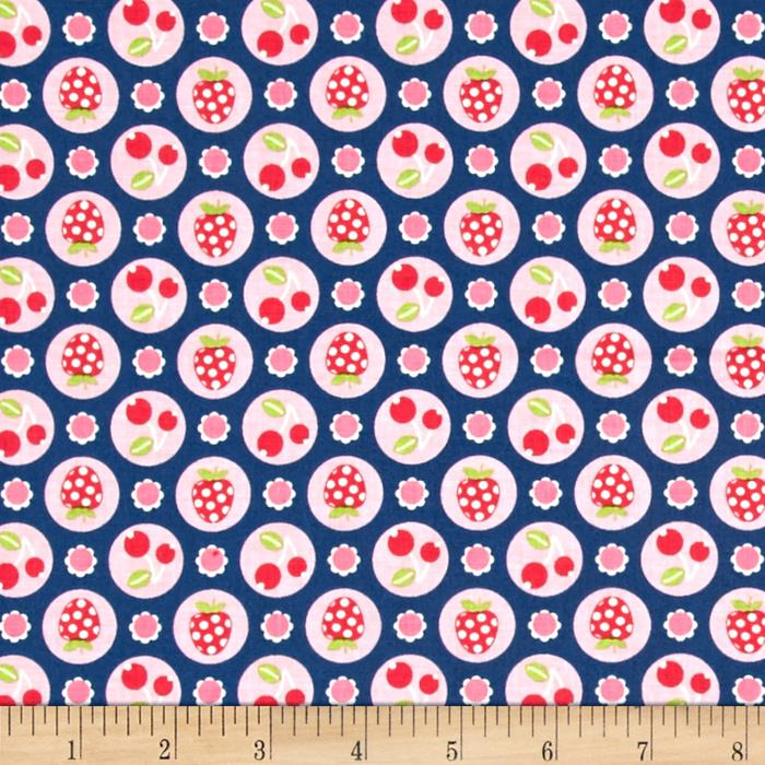 Riley Blake Flutterberry Berries Navy