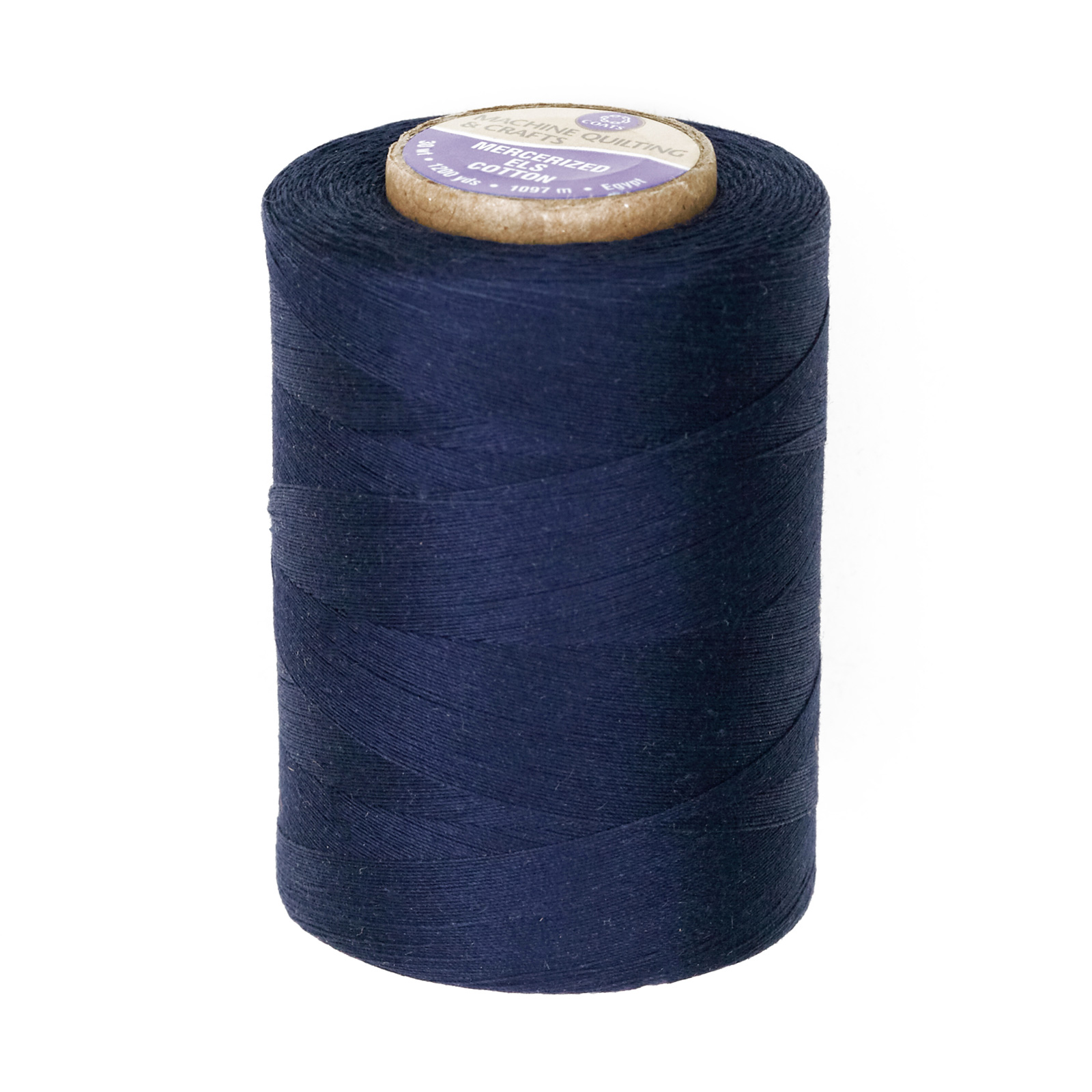 Coats & Clark Star Mercerized Cotton Quilting Thread 1200 Yd. Navy by Coats & Clark in USA