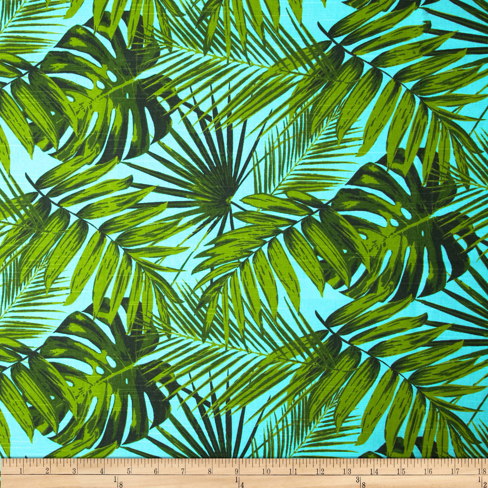Tempo Tropical Botanics Blue Lagoon Fabric by Tempro in USA