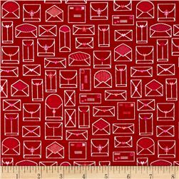 Riley Blake Lovebug Envelopes Red