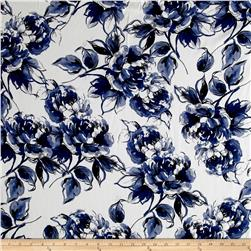 Telio San Tropez Flower Shirting Print Navy
