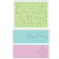 Sizzix Textured Impressions Embossing Folders 3 Pack-