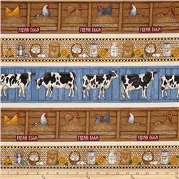 Happy Homestead Farm Stripe Cream
