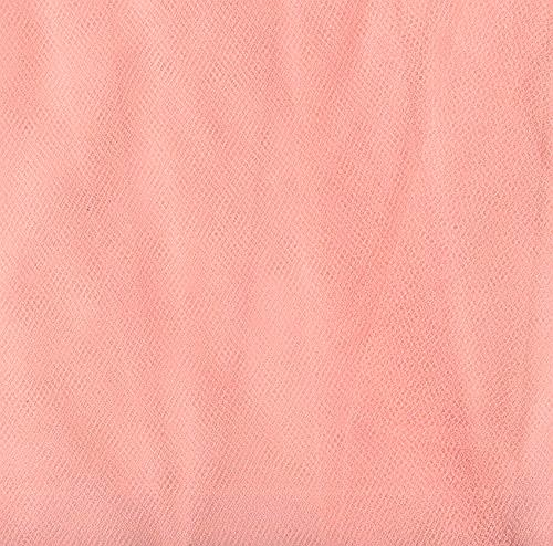 """54"""" Wide Tulle Peach"""