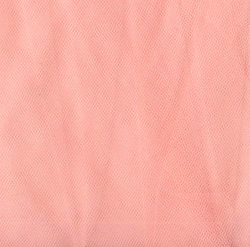 Image of 54'' Wide Tulle Peach Fabric