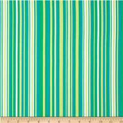 Michael Miller Lavinia Play Stripe Caribbean Fabric
