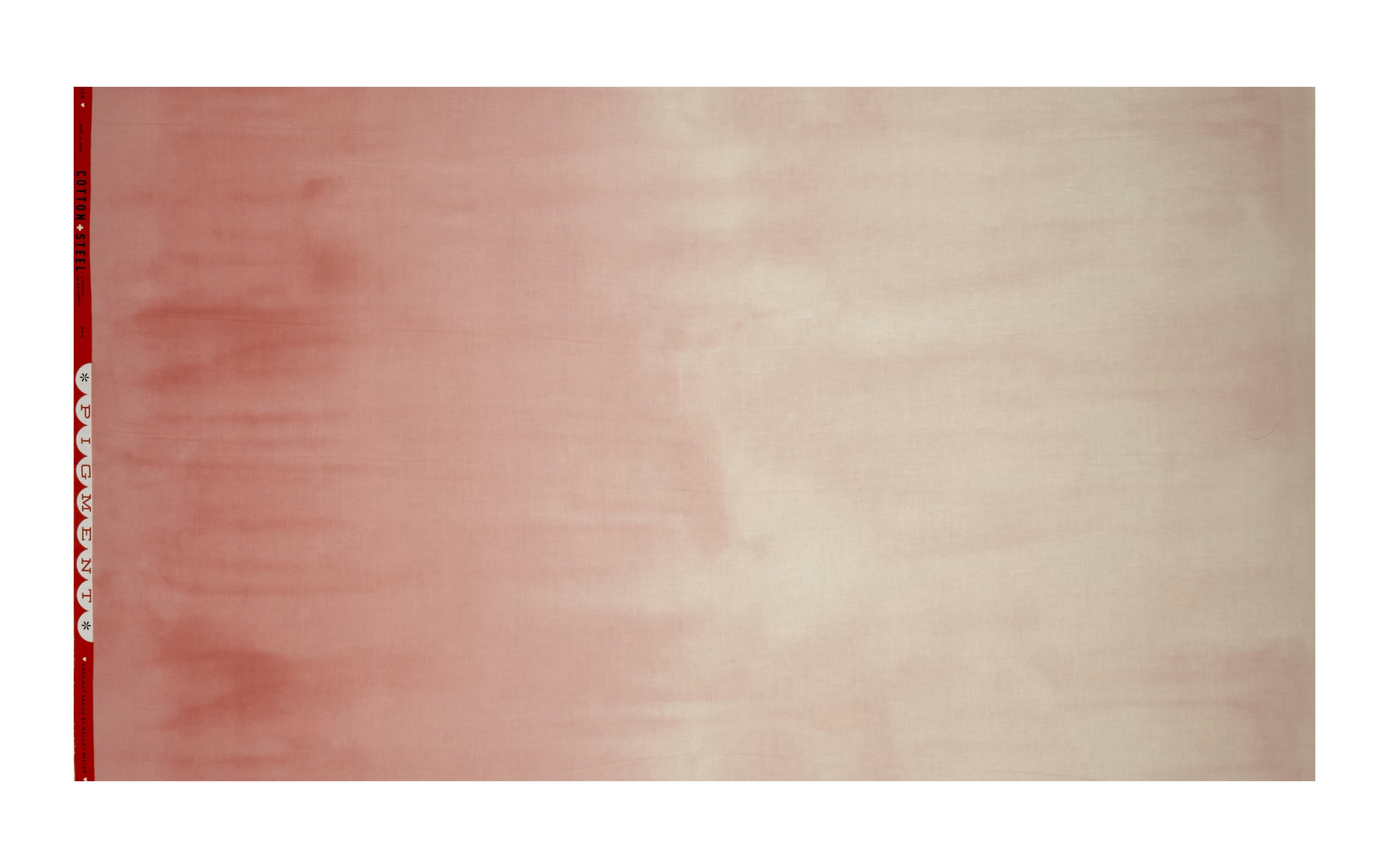 Image of Cotton + Steel Ombre Pigment Rosewater Fabric