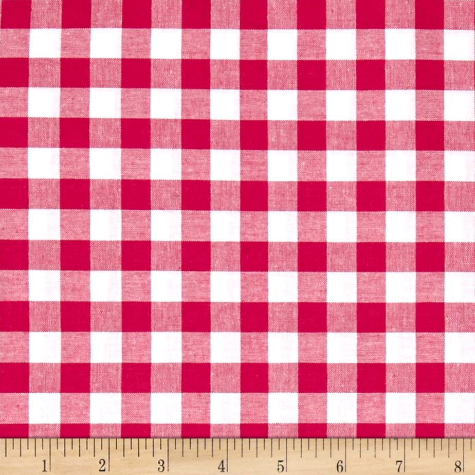 Cotton + Steel Checkers Yarn Dyed Woven 1/2'' Berry Fabric
