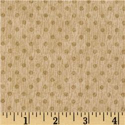 Herb Garden Dots Tan Fabric