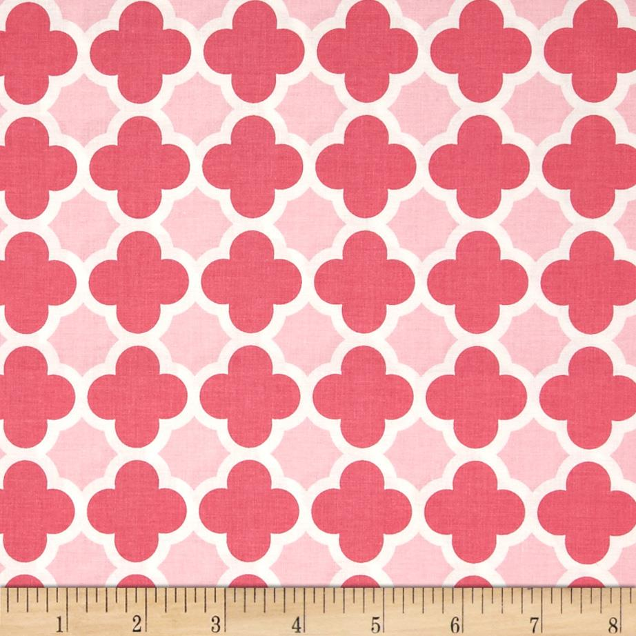 Riley blake quatrefoil hot pink baby pink discount for Cheap baby fabric