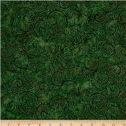 Tonga Batik Joy Dot Swirl Hunter Green