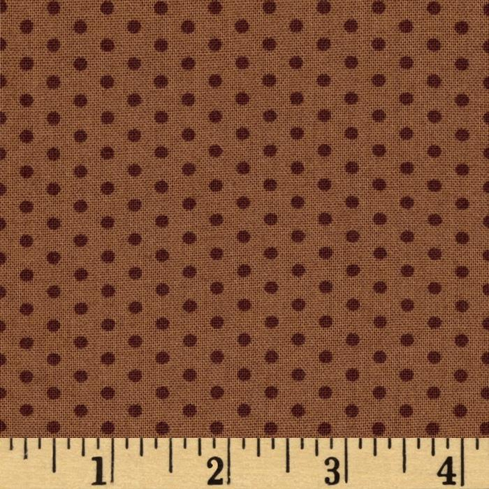 Kaufman Spot On Pindot Brown