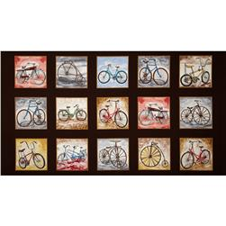 Vintage Bicycles 24 In. Panel Multi
