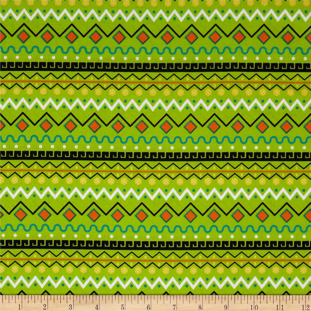 It's a Kid's World Border Stripe Lime