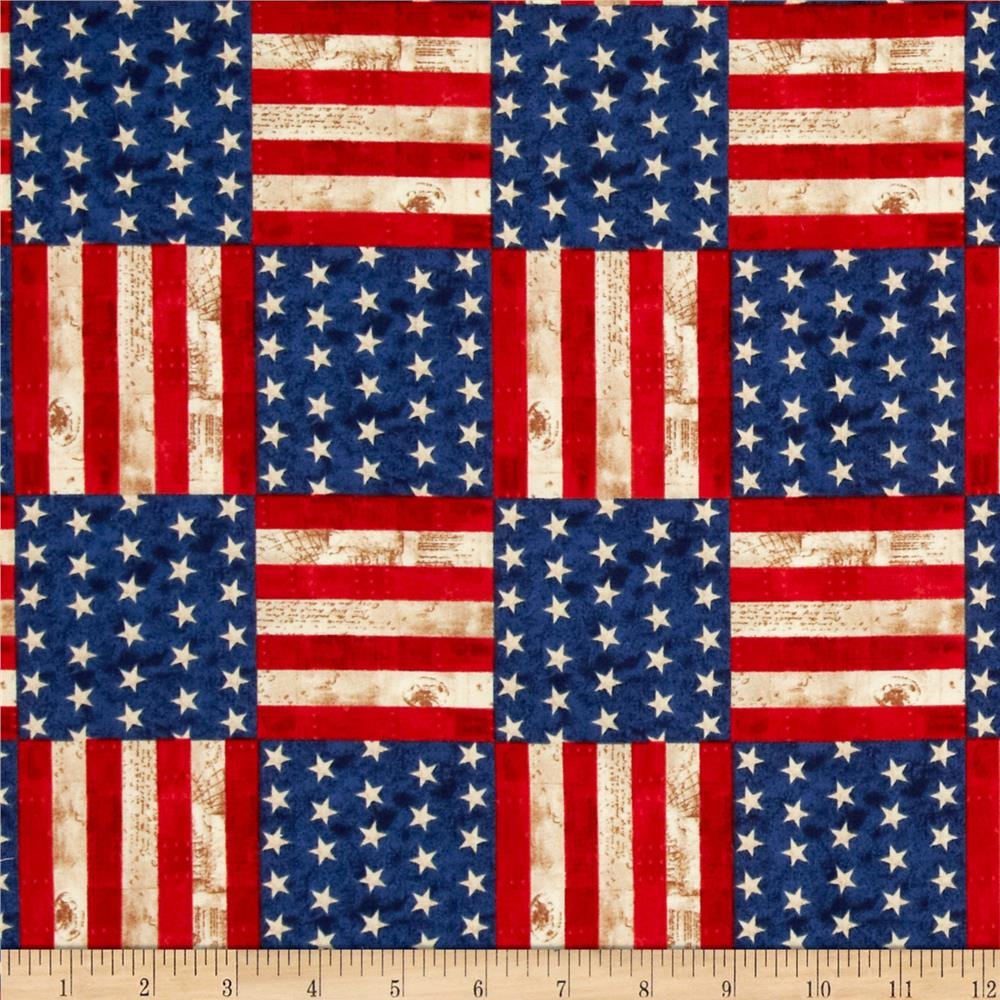 America the beautiful flag blocks americana discount for Fabric purchase