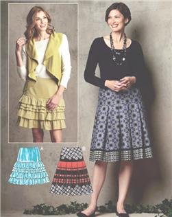 Kwik Sew Ruffled & Banded Skirts Pattern
