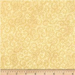 Winter Berries Metallic Viney Scroll Cream/Gold Fabric