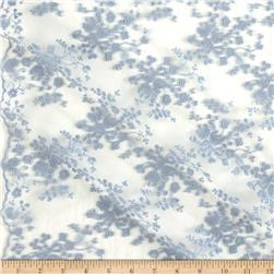 Telio Coralie Embroidered Mesh Lace Soft Blue