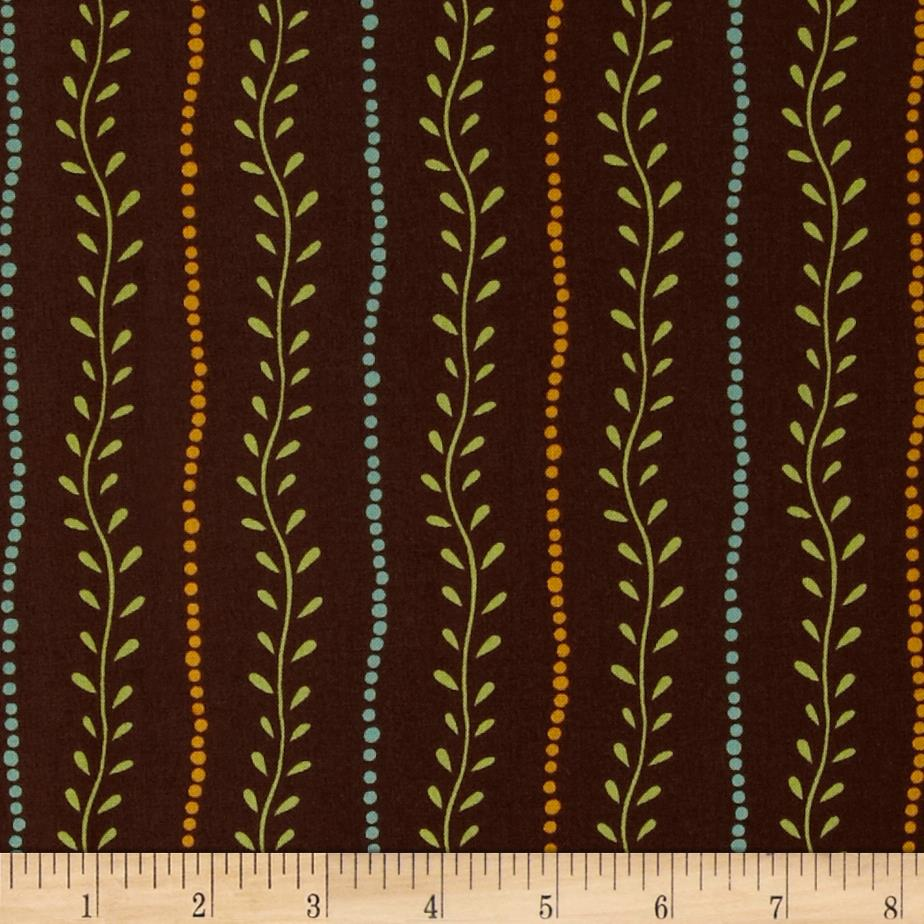 Lily Vine Stripe Brown