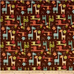 Riley Blake Home Decor Giraffe Brown