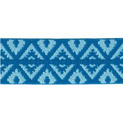 "1""X1 Fold-Over Elastic Blues -Foulard Design"