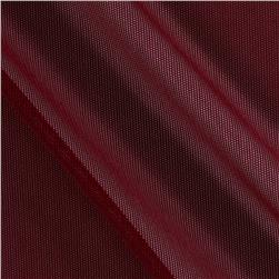 Spandex Stretch Illusion Shaper Mesh Burgundy