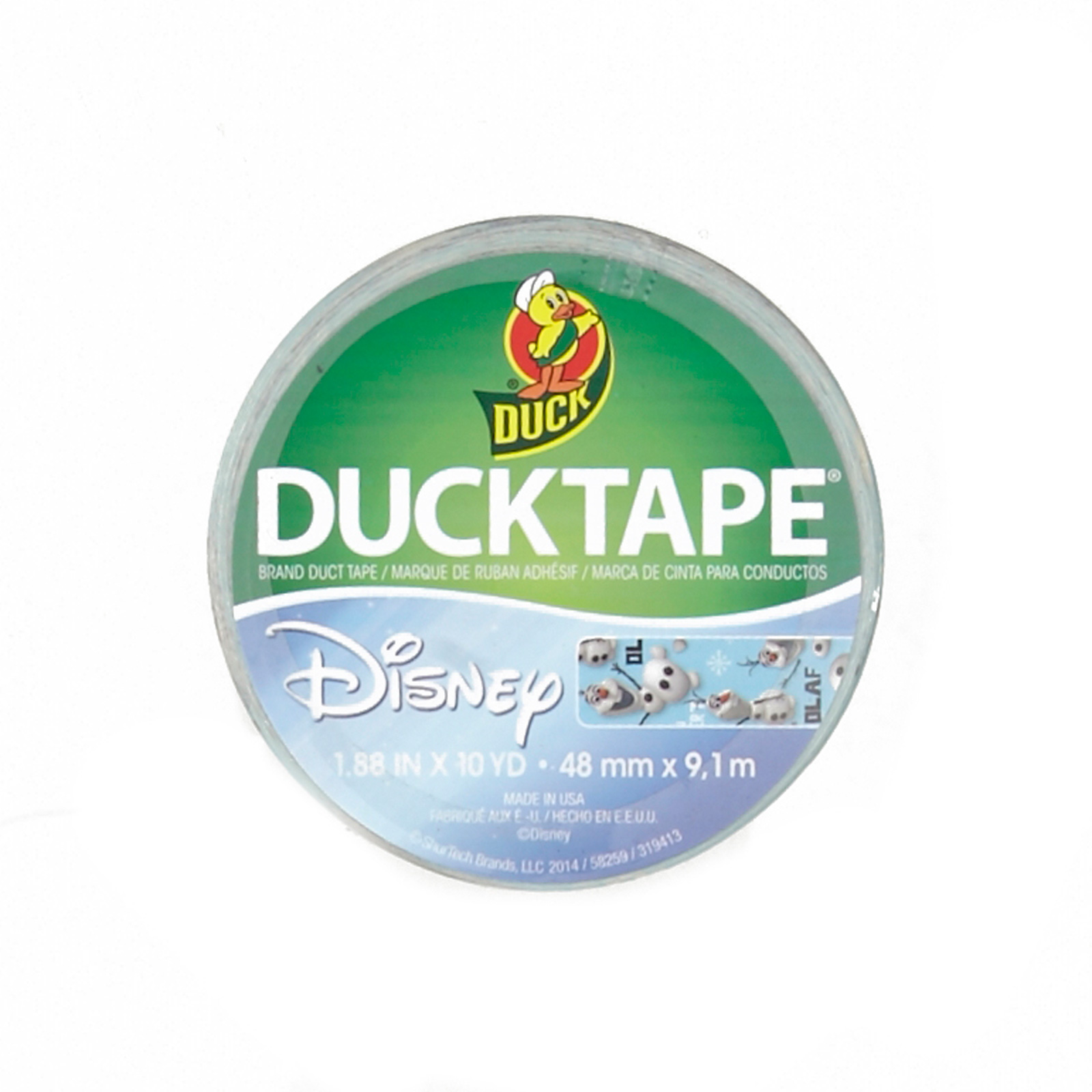 Frozen Olaf Duck Tape 10yd Roll by Notions Marketing in USA